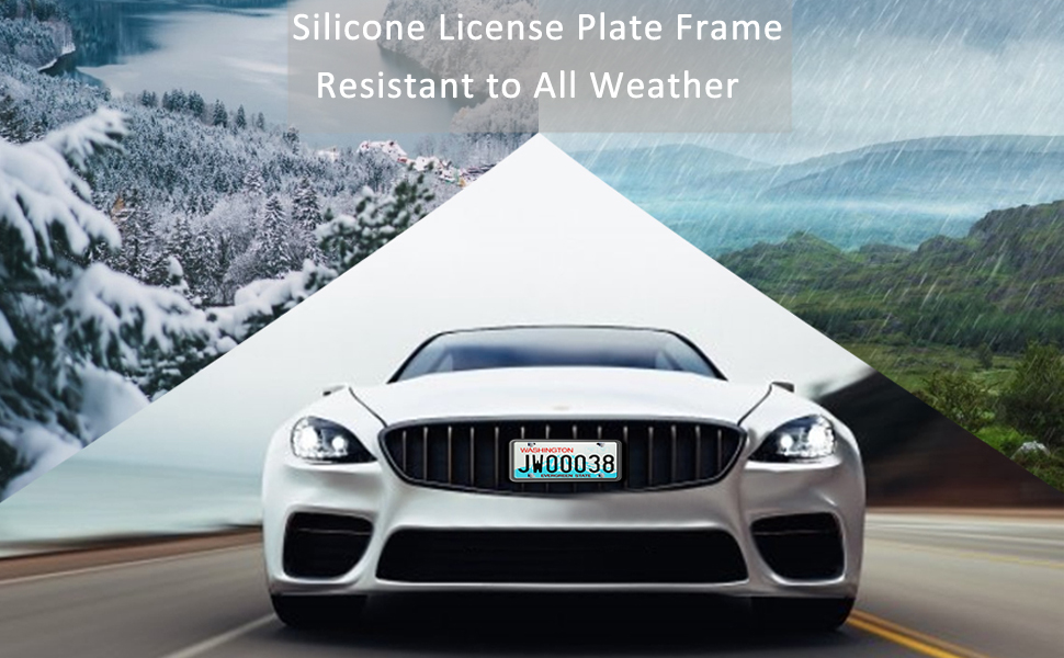 license plate frame silicone