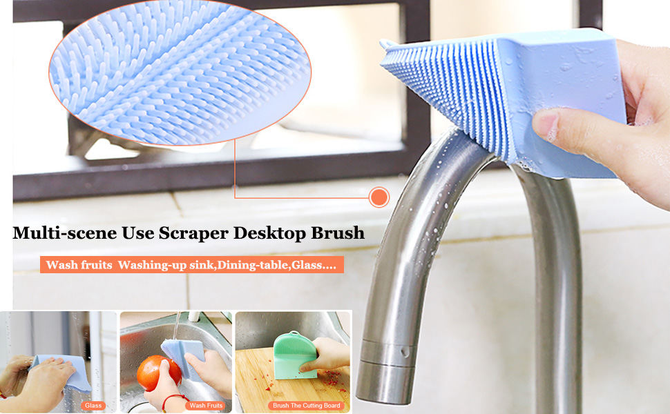 Silicone Scraper Desktop Brush