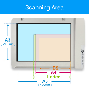 Plustek A3 escáner plano os1180, para A3 Tamaño gráfica y ...