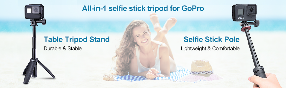 selfie stick tripod for gopro