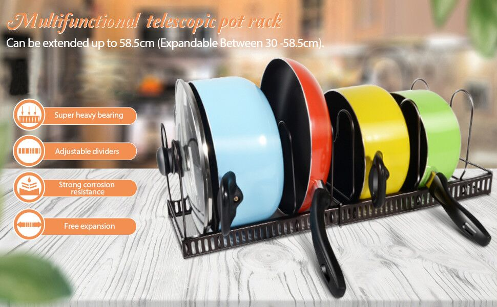 Multi-Function Telescopic Pan Rack-Masthome 1