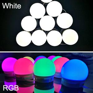 RGB colorful white light