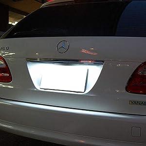 LED License Plate Light Mercedes W124 W201 E-Class W202 C-Class CAN-buss Error Free