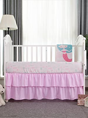 Introducing La Premura Mermaid Baby Crib Bedding Set for girls