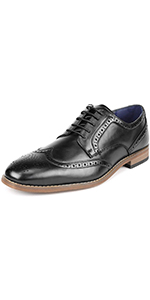 Men's Brogue Wing Tip Oxfords Dress Shoes