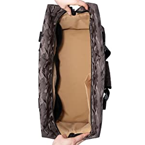 duffel bag inside