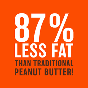 87% less fat than traditional peanut butter