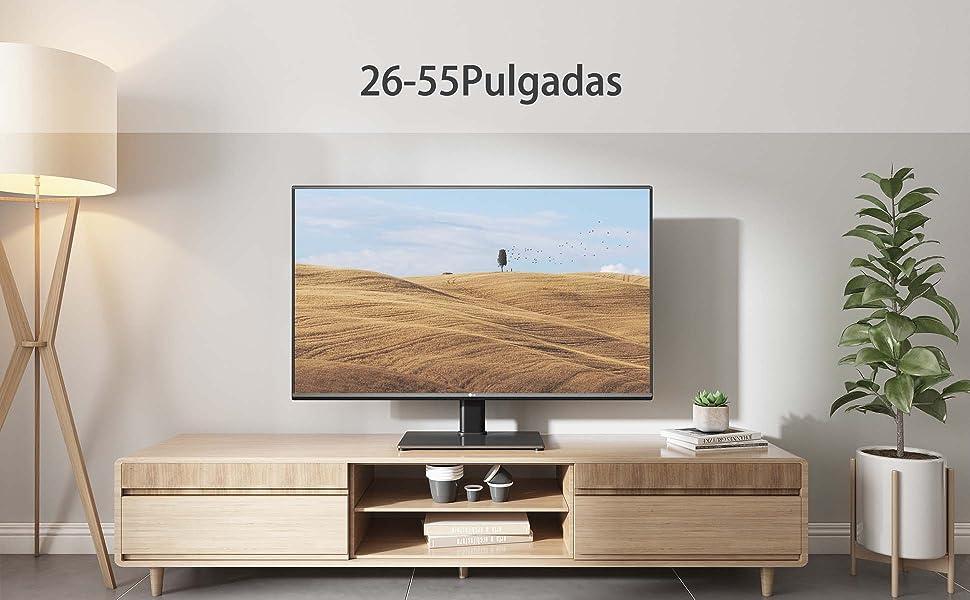 BONTEC Soporte TV Universal Soporte TV Mesa Peana para TV de 26-55 ...