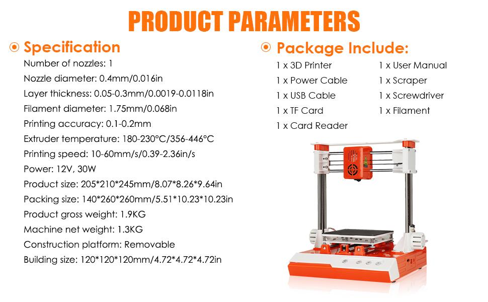 Mini Desktop 3D Printer DIY Kit