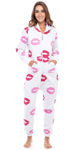 SKYLINEWEARS Women's Unisex Adult Onesie One Piece Non Footed Pajama Playsuit Jumpsuit