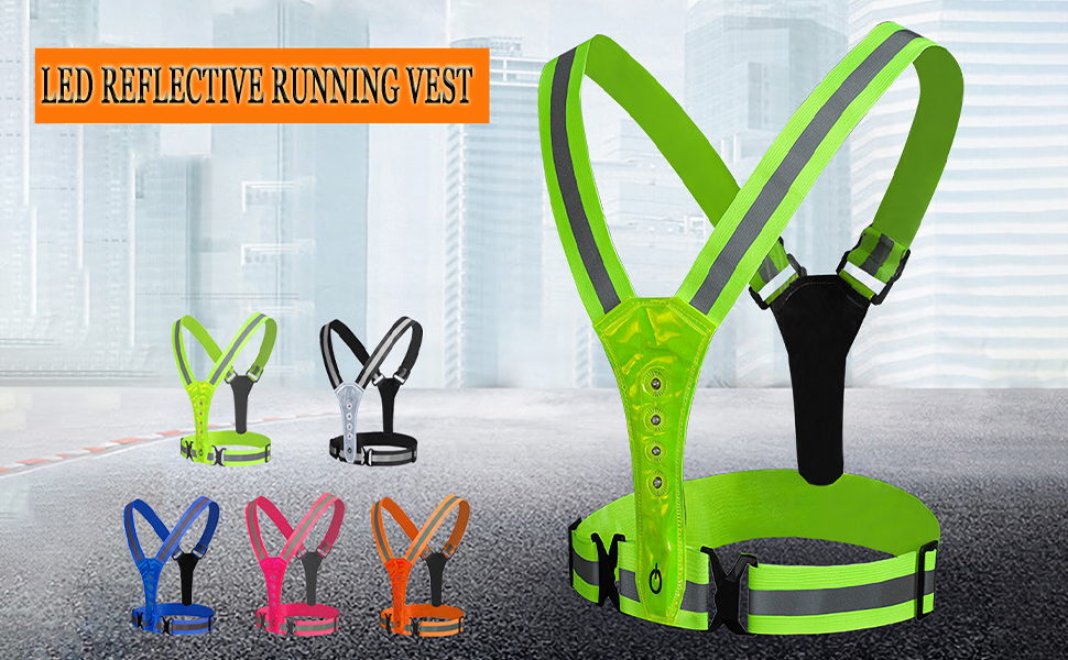 gootrades LED Reflective Running Limited price sale Vest ...