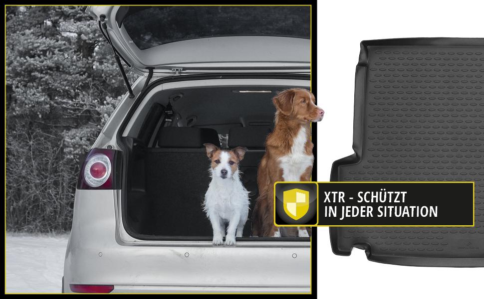 Walser XTR Kofferraumwanne kompatibel mit Audi Q3 Baujahr 2015 bis Heute