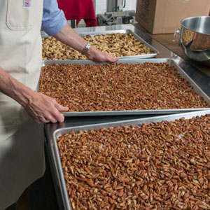 Roasting Almonds amp; Peanuts for the nut butter