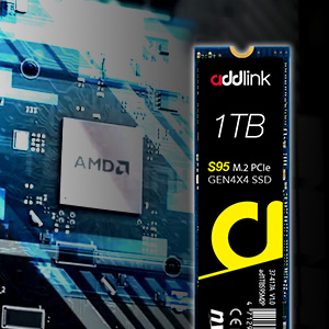 addlink S95 1TB NVMe PCIe Gen4x4 M.2 2280 SSD Internal Solid State Drive Gaming PC Laptop Notebook
