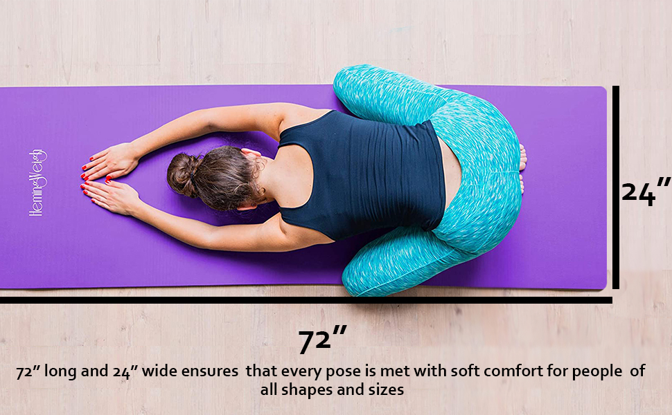 yoga kit, mat, strap, foam block, towels