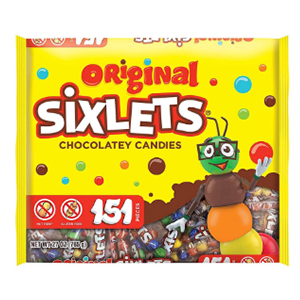 sixlets, original sixlets, gluten free, nut free, nostalgic candy, old candy, candy from childhood