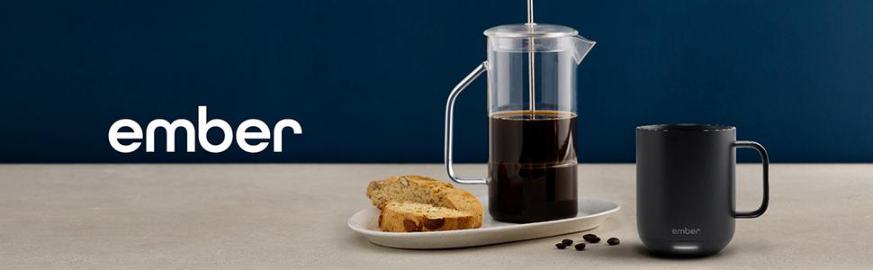10 oz black ember mug temperature heated