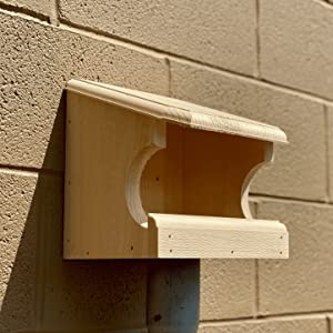 Wakefield Bird Nesting Perch Mounted on the side of a building to attract songbirds