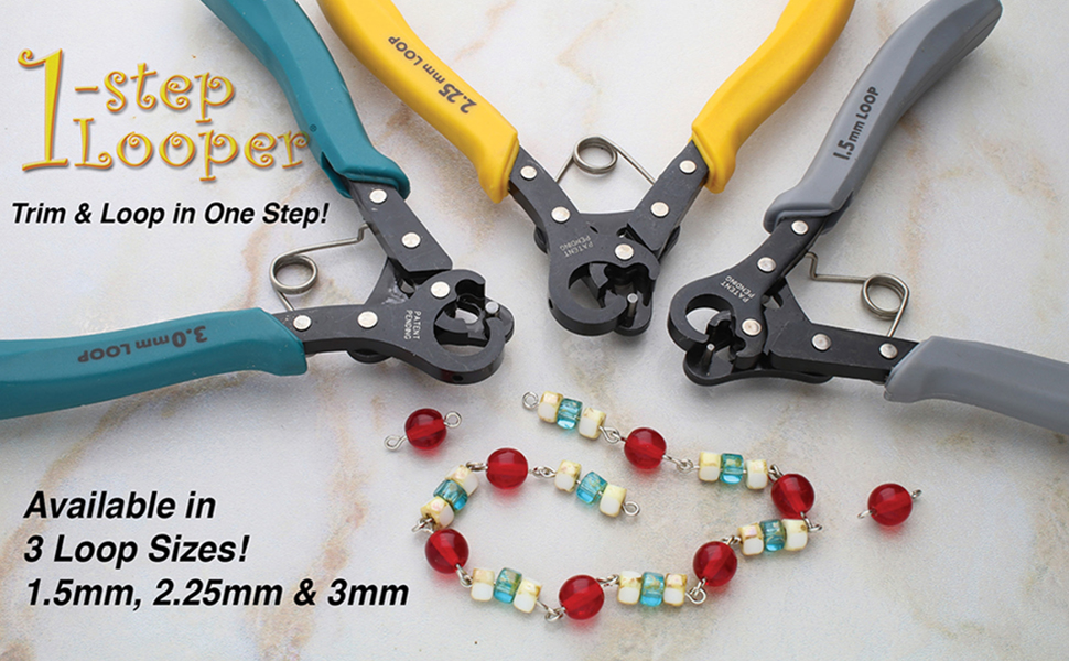 Creates 3mm Loops Professional Jewelry-Making Tool - PLLOOP2 For Use With 24-18g Wire 5 Beadsmith Brand BIG One-Step Looper Tool