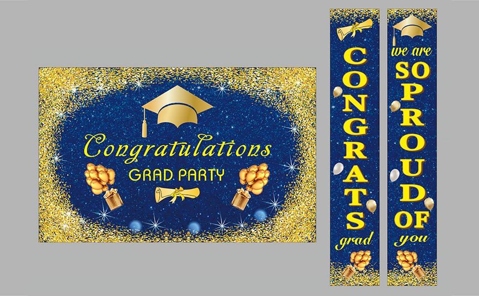graduation backdrop banner set