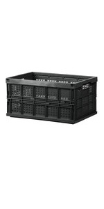 Storage Bins livinbox 45L Cargo Collapsible Utility Storage Box White Durable Plastic Stackable Containers FB-6432