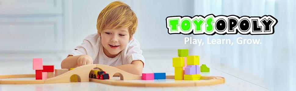 toysopoly logo train 55 pieces