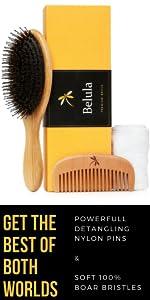 boar bristle hair brush for thick hair detangling hairbrush detangle curly hair long