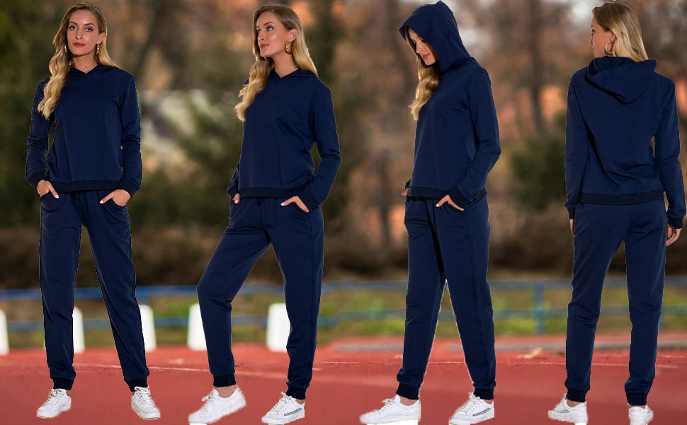 Women Sweatsuits Casual 2 Piece Outfit  Tracksuits 1