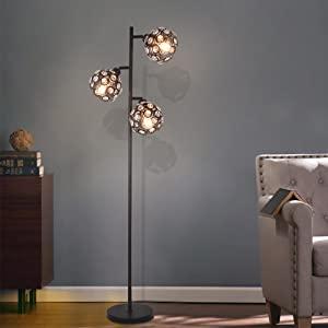 crystal shade floor lamp