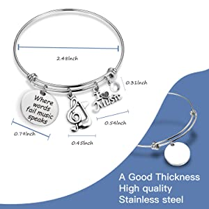 Teacher Gift Music Note Gift Music bracelet Music Lovers Jewelry