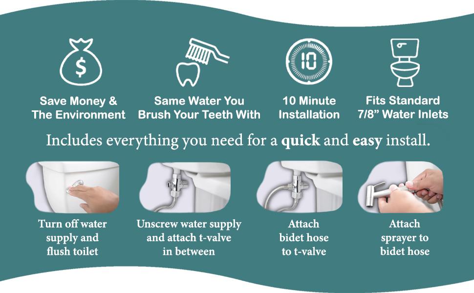 save money personal hygiene clean easy install installation diy