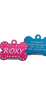 Bling pet tags