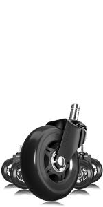Black amp; Black Office Chair Wheels