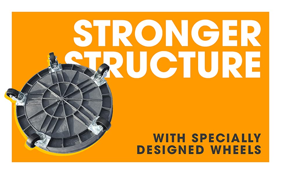 stronger structure smooth wheels