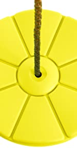 yellow disc swing weather resistant