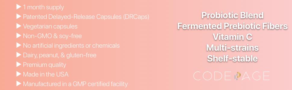 Codeage  - 50 Billion CFUs, 19 raw probiotic strains, Ayurvedic botanical herbs, DRCaps, Vegetarian
