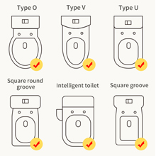 Fits for all kinds of toilet type