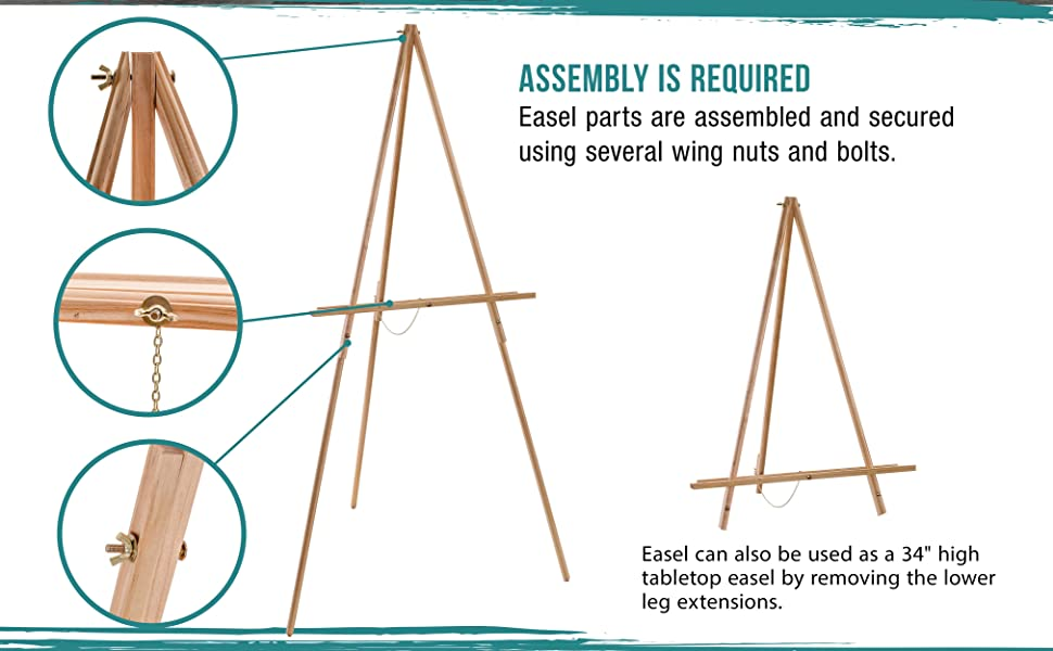 U.S. Art Supply E-419 Torrey A-Frame Tripod Floor Easel