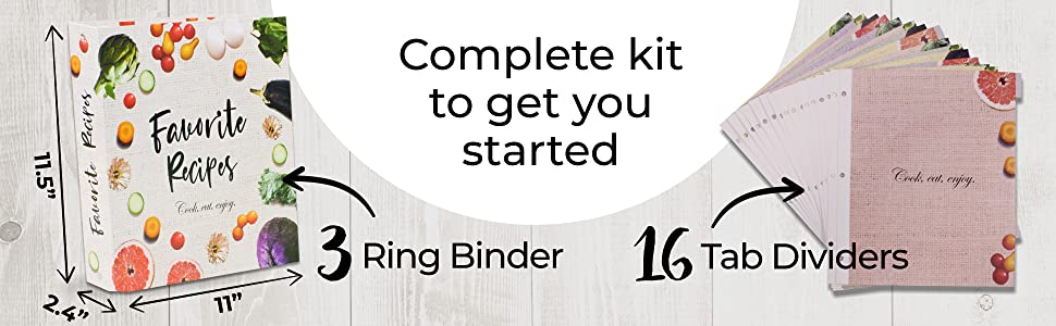 recipe binder 8.5x11 3 ring