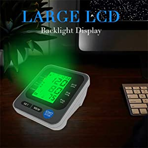 """5  Blood Pressure Monitor for Home Use with Large 3.5"""" LCD Display, Wowgo Digital Upper Arm Automatic Measure Blood Pressure and Heart Rate Pulse with Wide-Range Cuff,Three-Color Backlight Display 26453c6c b370 4430 b336 6b0b561ac699"""