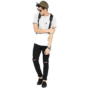 Black Knee Distressed Jeans