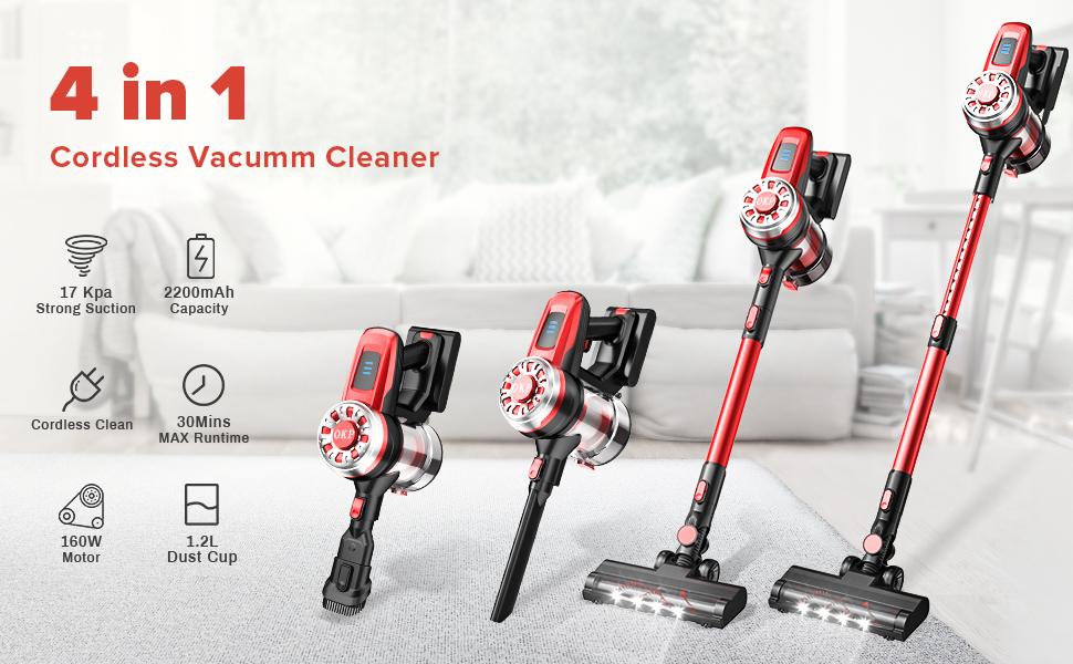 4 in 1 stick vacuum cordless