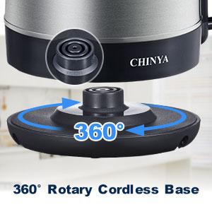 Safer Tech & 360° Swivel Base&Cordless Design