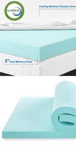 California King size Memory Foam Mattress Topper