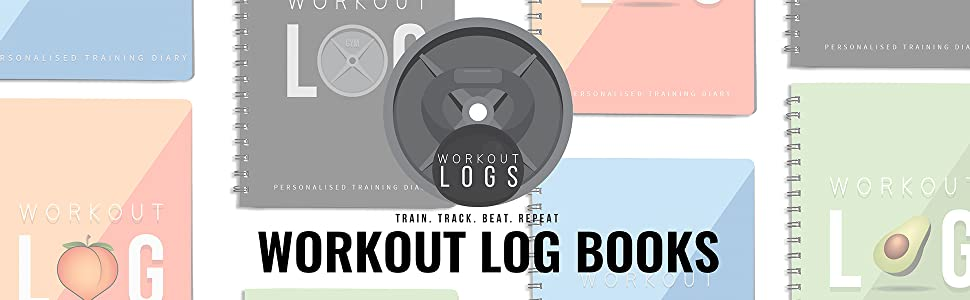 WORKOUT NUTRITION LOGBOOK LOG BLACK PEACHY BLUE GREEN VEGAN RECYCLED SUSTAINABLE WIRO A5 NOTEPAD