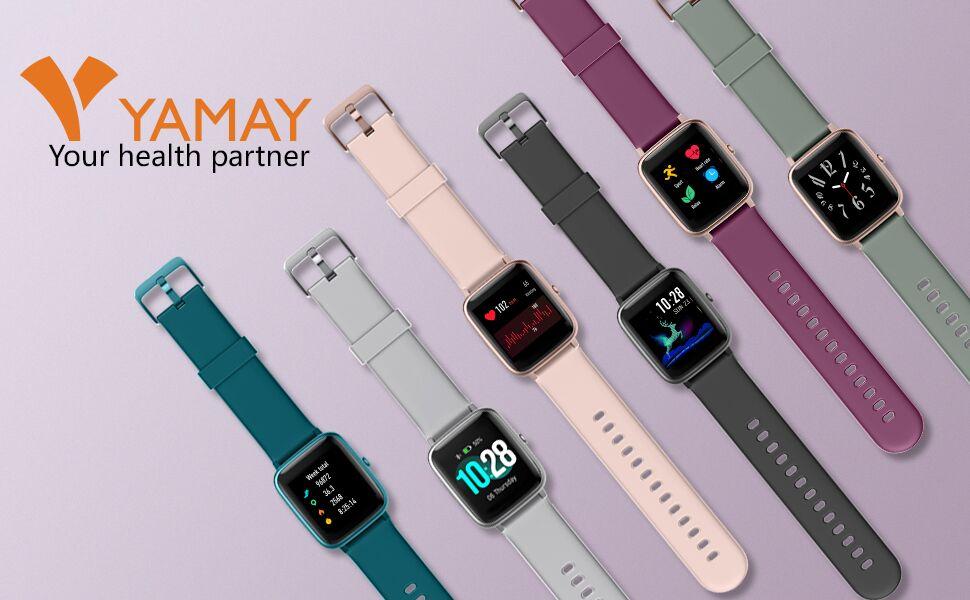 yamay smart watch fitness tracker watch
