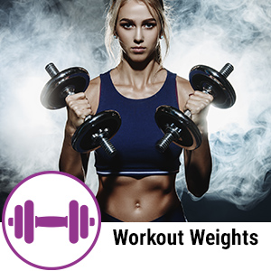 workout weights dumbbells girl