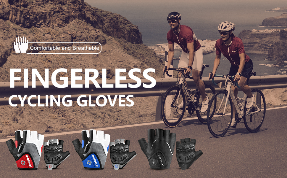cycling gloves palm pad anti slip shock absorption touch screen