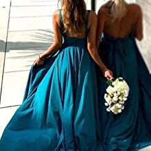 Backless Zipper Back Bridesmaid Dress