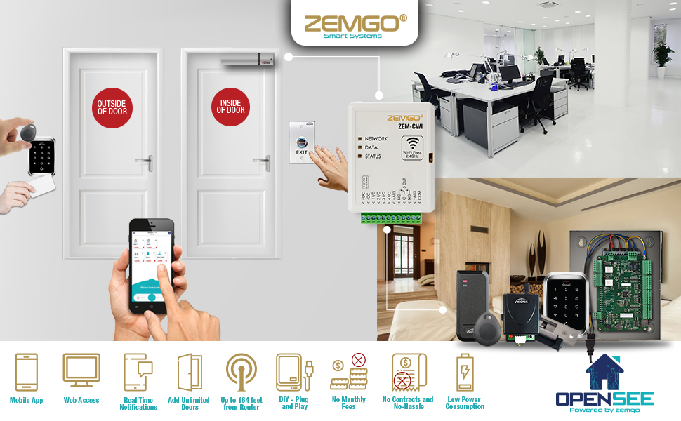 door locks magnetic lock hidden wifi remote electromagnetic mag cloud remotely control access system